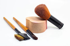 Várias escovas da composição Conceito da beleza Fotos de Stock
