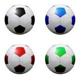 Várias esferas de futebol Imagem de Stock