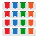 Várias etiquetas de papel da etiqueta Fotografia de Stock Royalty Free