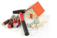 Várias ferramentas da construção Fotos de Stock