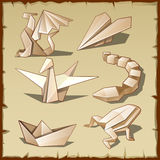 Várias figuras do papel ilustração royalty free