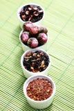 Várias folhas de chá fotos de stock