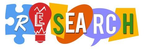 Várias formas coloridas da pesquisa Imagens de Stock Royalty Free