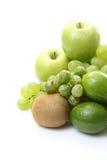 Várias frutas verdes foto de stock