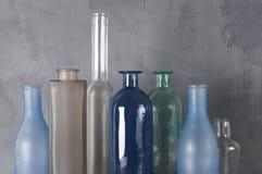 Várias garrafas ajustadas imagens de stock