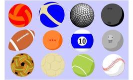 Várias ilustrações da bola ilustração do vetor