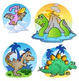 Várias imagens 1 do dinossauro ilustração do vetor