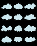 Várias nuvens azuis Foto de Stock Royalty Free