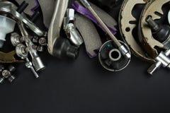 Várias peças e ferramentas do carro imagem de stock