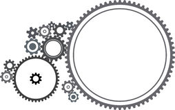 Várias rodas denteadas ilustração stock