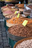 Várias sementes e porcas cozidas Imagem de Stock
