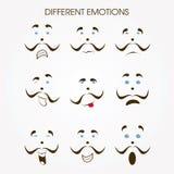 Vário ícone das emoções Fotos de Stock Royalty Free