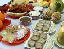 Vário alimento para a cultura chinesa do ano novo fotografia de stock royalty free