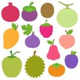 Vário clipart exótico bonito dos frutos Ilustração Royalty Free