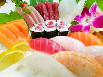 Vário close-up do sushi Fotos de Stock Royalty Free