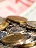 Vário closup da moeda Imagem de Stock Royalty Free