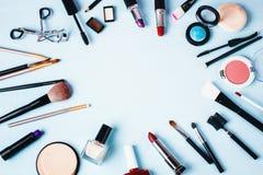 Vário compõe e produtos de beleza Foto de Stock Royalty Free