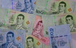 Vário de cédulas tailandesas Imagens de Stock Royalty Free