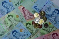 Vário de cédulas tailandesas Fotografia de Stock Royalty Free