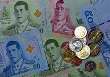 Vário de cédulas tailandesas Fotografia de Stock