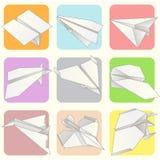 Grupo modelo plano de papel da coleção Fotografia de Stock