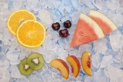 Vário fruto no gelo Imagens de Stock Royalty Free