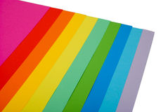 Vário papel da cor Fotos de Stock Royalty Free