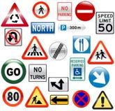 Vário sinal de estrada lustroso Foto de Stock Royalty Free