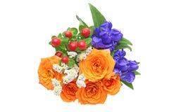 Vário tipo das flores em um fundo branco Fotografia de Stock Royalty Free