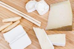Vário-tipo--queijo Foto de Stock