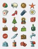 Vários ícones ilustração royalty free