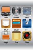 Vários ícones Imagem de Stock Royalty Free