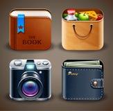 Vários ícones Fotografia de Stock Royalty Free