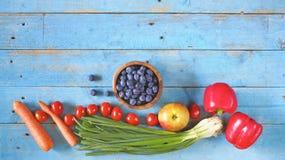 Vários alimentos saudáveis Fotografia de Stock Royalty Free