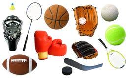 Vários artigos dos esportes Imagens de Stock