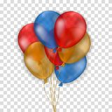 Vários balões coloridos ilustração stock