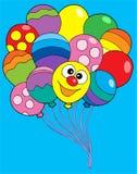 Vários balões da cor ilustração royalty free