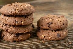 Vários biscoitos saborosos das cookies imagem de stock