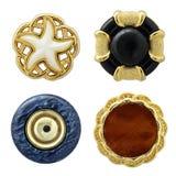 Vários botões da costura isolados Imagem de Stock Royalty Free