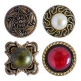 Vários botões da costura isolados Fotos de Stock Royalty Free
