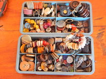 Vários botões para a roupa Fotografia de Stock