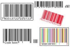 Vários códigos de barras ilustração do vetor