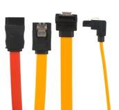 Vários cabos de SATA Imagens de Stock