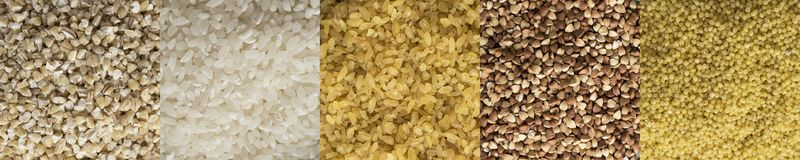 Vários cereais imagens de stock