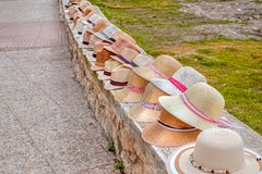 Vários chapéus de palha Imagem de Stock Royalty Free