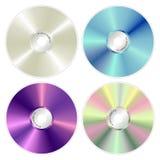 Vários compacts-disc da cor Fotografia de Stock Royalty Free
