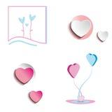 Vários corações Imagens de Stock Royalty Free