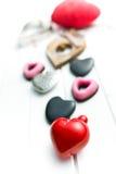 Vários corações do Valentim Imagem de Stock Royalty Free