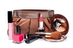 Vários cosméticos fotografia de stock
