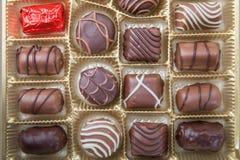 Vários doces de chocolate Imagem de Stock